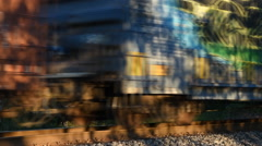 Train Boxcars Race By Stock Footage
