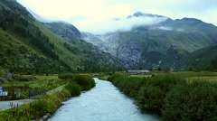 The river Rhone near Gletsch Stock Footage