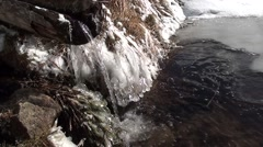 Water spring in winter Stock Footage
