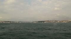 Bosphorus (Istanbul Strait) Stock Footage
