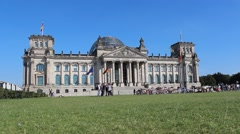Reichstag building in Berlin,germany - German parliament - stock footage