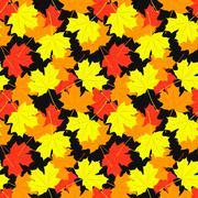 Stock Illustration of Seamless pattern of maple leaves.  illustration
