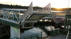 Washington State Ferry, Boat, Commute Stock Footage