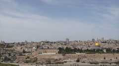 The walled old city of Jerusalem, Israel Stock Footage