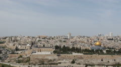 The walled old city of Jerusalem, Israel, Stock Footage