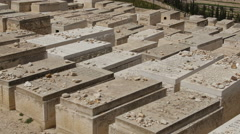 Mount of Olives Jewish Cemetery. Stock Footage