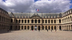 The Cour d'honneur (in 4k), Les Invalides, Paris, France. Stock Footage