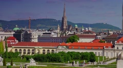 ULTRA HD 4K real time shot,The Belvedere Palace in Vienna, Austria. Stock Footage