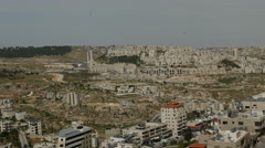 Stock Video Footage of Panoramic view over Bethlehem, Palestine