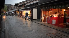 Yasaka Pagoda and Sannen Zaka Street in the Morning, Kyoto, Japan Stock Footage