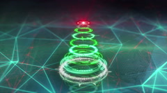 Christmas tree futuristic style loop animation 4k (4096x2304) Stock Footage