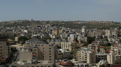 Panoramic view over Bethlehem, Palestine - stock footage