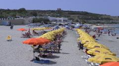 Malta island Ghadira bay beach Stock Footage