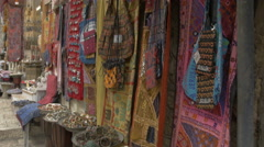 Suq El Bazar situated on David Street is the main covered market of Jerusalem. - stock footage