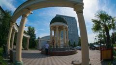 Krasnoyarsk, 19 July 2015, marriage Palace building, Time lapse Stock Footage