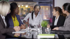 4k Conflict in a business meeting - Lady boss gives her team a telling off - stock footage