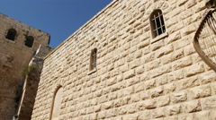 King David statue in Jerusalem Stock Footage