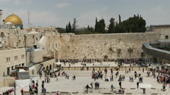 Jerusalem western wall Stock Footage