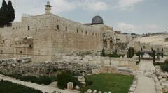 Jerusalem western wall - stock footage