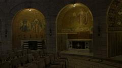 Virgin Mary's tomb in Jerusalem, Israel Stock Footage