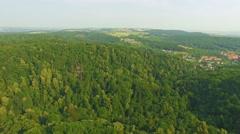 AERIAL 4K of Medieval Castle Ksiaz in city Walbrzych, Poland, Lower Silesia. Stock Footage