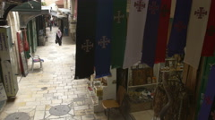 JERUSALEM, ISRAEL - April 9, 2015: Jerusalem Bazar Stock Footage