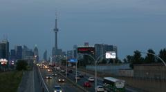 Toronto Gardiner Expressway Dusk - stock footage
