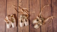Evolution of ballet pointe. - stock photo