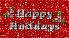 Happy Holidays Greetings - seamless looping - stock footage
