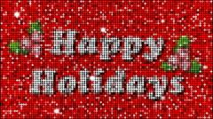 Happy Holidays Greetings - seamless looping Stock Footage