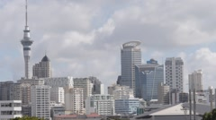 Auckland City New Zealand Fast cloud movement HD Stock Footage