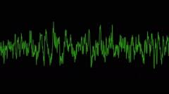 Digital Audio Waveform Stock Footage