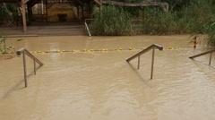 Jordan River, Israel overflooded Stock Footage