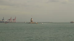 Stock Video Footage of Maiden's Tower Istanbul