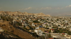 Town of Jericho - the oldest city in the world Stock Footage