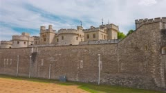 The Tower of London, famous historical landmark. It is a haunted house. Stock Footage