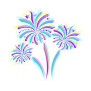 Firework icon - stock illustration