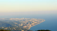 Stock Video Footage of Adler View from Mount Akhun. Sochi, Russia. 4K
