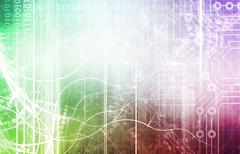 Biotechnology Abstract Stock Illustration