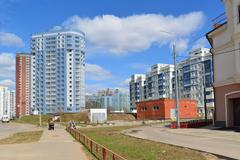 KRASNOGORSK, RUSSIA - APRIL 22,2015: Krasnogorsk is city and center of - stock photo