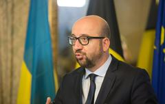 Stock Photo of Belgian Prime Minister Charles Michel