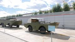 Vehicle - amphibians. Pyshma, Ekaterinburg, Russia. 4K Stock Footage