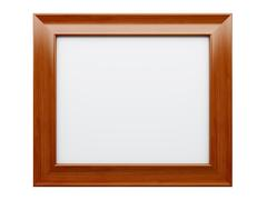 Realistic picture frame isolated on white background. - stock illustration
