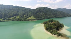 Schliersee lake, Bavaria, Germany Stock Footage