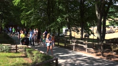 Visitors at the Prague Zoo. Czech Republic - stock footage