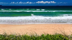Ocean with waves at the Gold Coast beach Australia Stock Footage