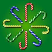 Christmas candy cane Stock Illustration