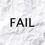 Fail concept on White paper texture and background. Stock Photos