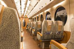 Stock Photo of OSAKA,JAPAN, FEB 09: Inside of Nankai train depart from Osaka station on 09 f