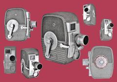 8mm Cameras Stock Photos